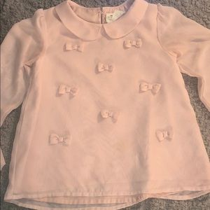 Ladies peach blouse size xs # A 29